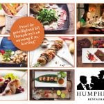 ansichtkaart sturen korting restaurant humphrey's