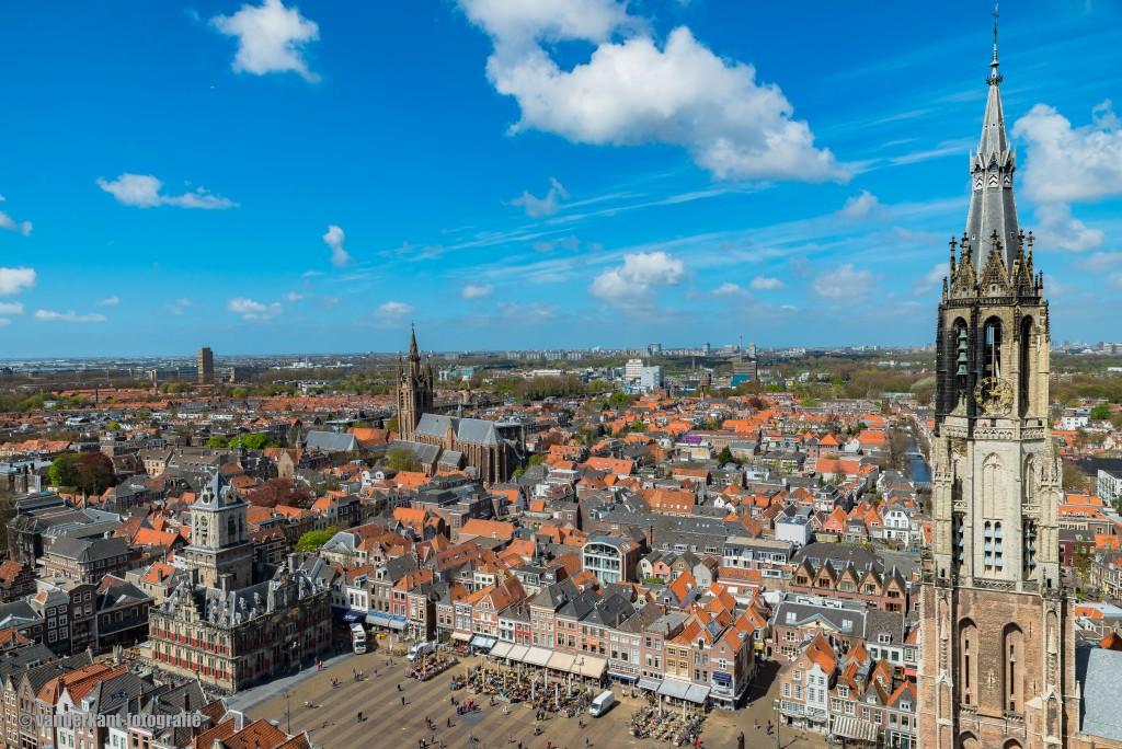 Maria van Jessekerk Delft vanuit de lucht vanderkant-fotografie