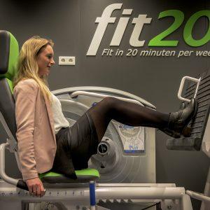 Sport bij Fit20 Foto: Daniella van Berg AD