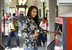 Betaalautomaat in de tram. Foto HTM