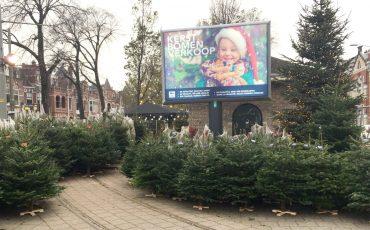 Kerstbomenverkoper