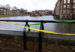 Groen gele lintjes in Den Haag