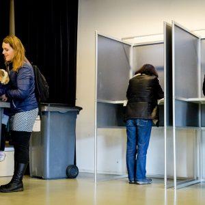 Stemhokjes in Den Haag. Foto ANP