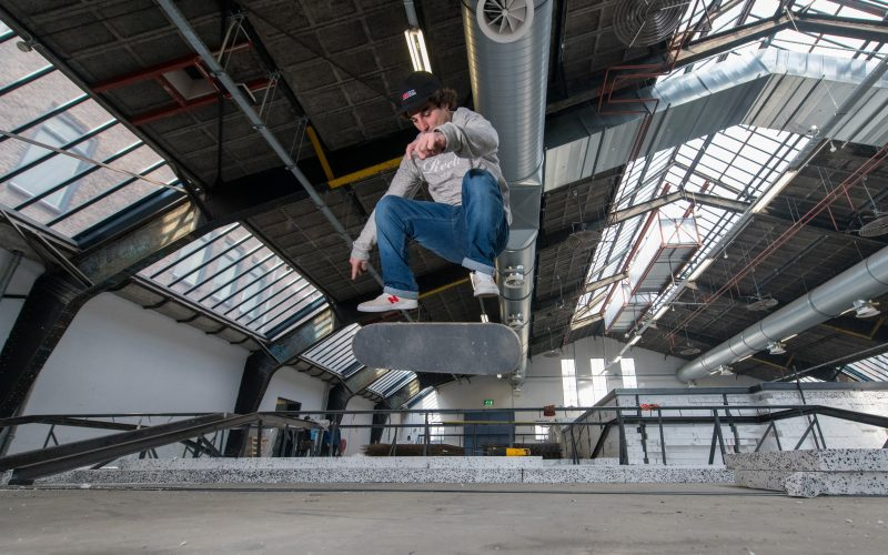 Nationaal Training Centrum Skateboarden. FNationaal Training Centrum Skateboarden. Foto Arnaud Roelofszoto Arnaud Roelofsz