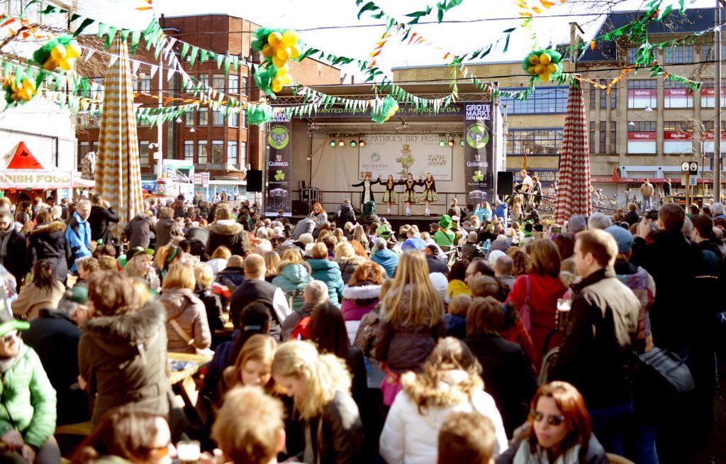 St Patricks Day 2018. Foto Grote Markt