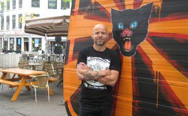 Marco Bijsterbosch organisator festival Sniester Grote Markt. Foto Posthoorn
