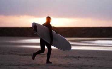 Surfer op Scheveningen. Foto ANP