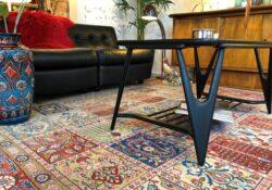 vintage vloerkleed pistache design enschede 2