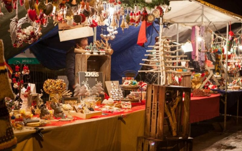 Winterfair kerstmarkt Gouda bij Kaarslicht Kaarsjesavond 2017