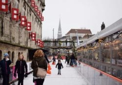 ijsbaan Gouda om Stadhuis opening 2017