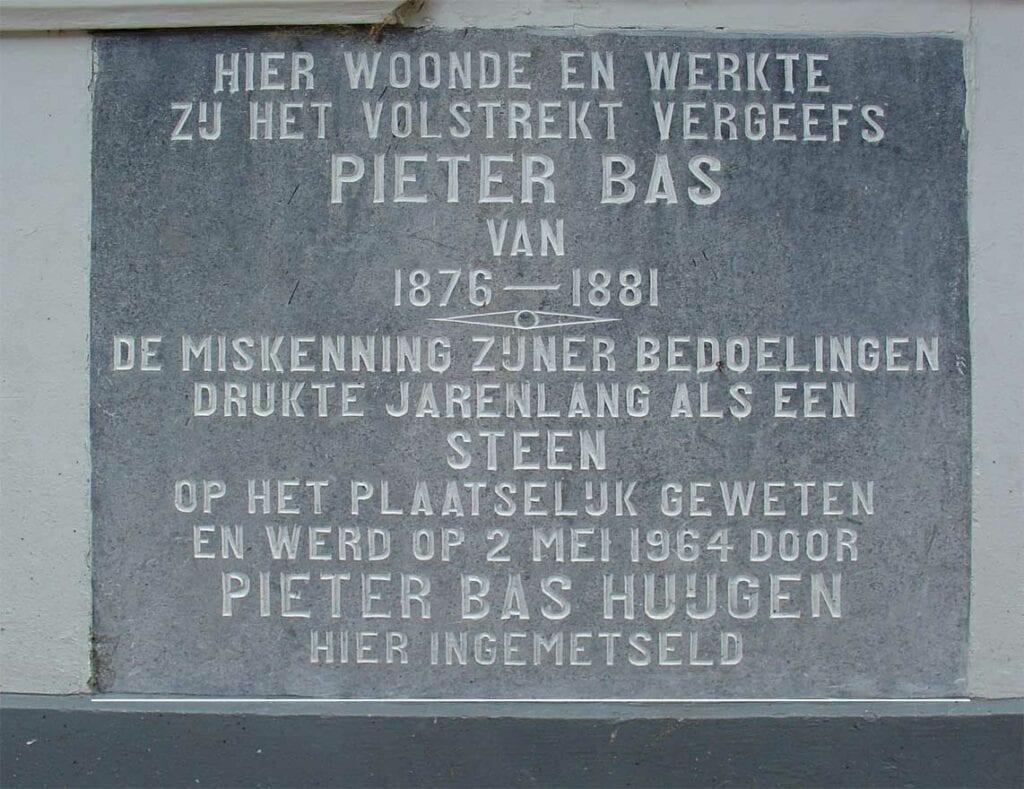 Gevelsteen van Pieter Bas