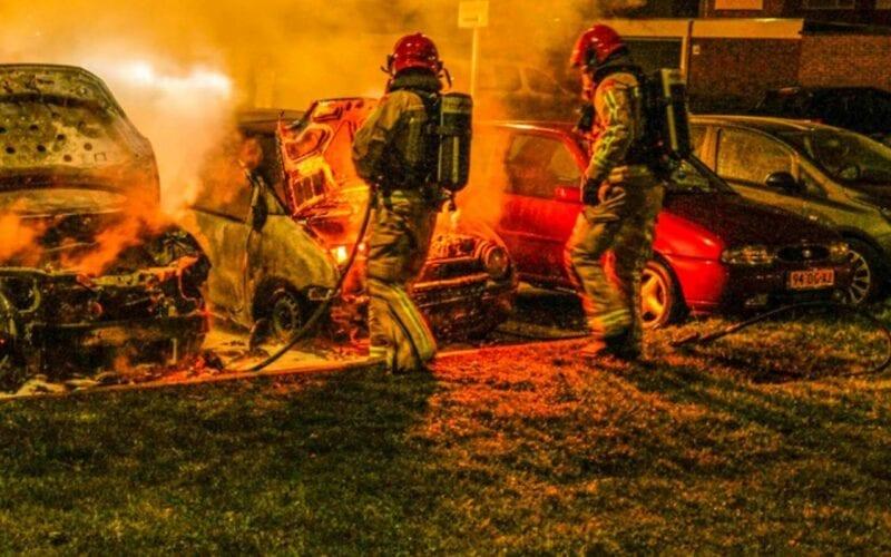 autobranden in Gouda