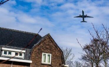Vliegverkeer boven Gouda