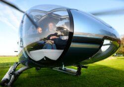helikopter boven Gouda