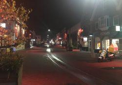 Rijnstraat in het donker