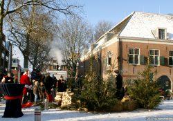 Kerstmarkt 2009 Kerkplein kerstbomen