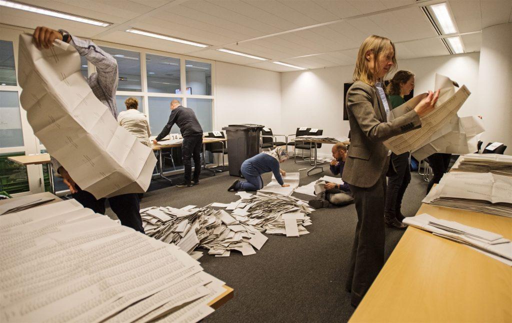 Stemmen tellen verkiezingen