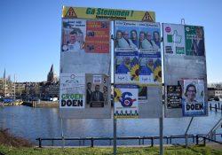 Verkiezingsbord gemeenteraadsverkiezingen haven westdam maart 2018