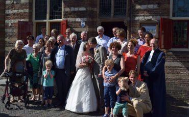 Marion Sander Reinaerde Singelhof Woerden huwelijk stadsmuseum vroedschapszaal sissi-jurk