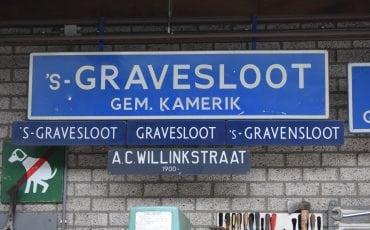 's-gravensloot woerden straatnaamborden