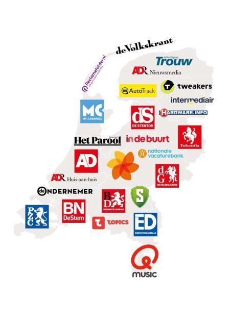Persgroep Nederland merkenoverzicht